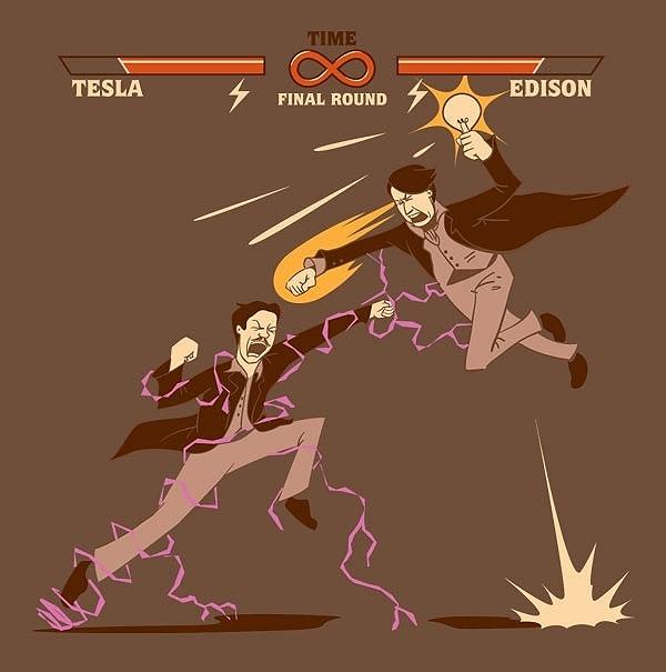 Tesla iEdison, czym jest prąd,