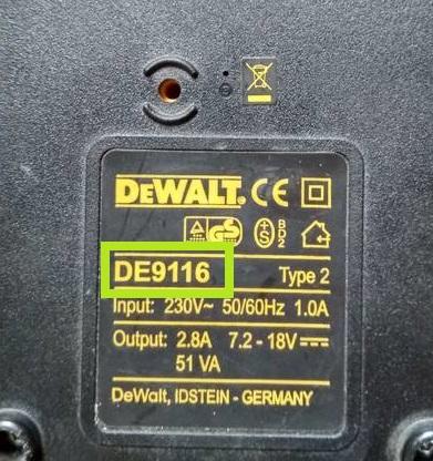 ladowarka dewalt 9116