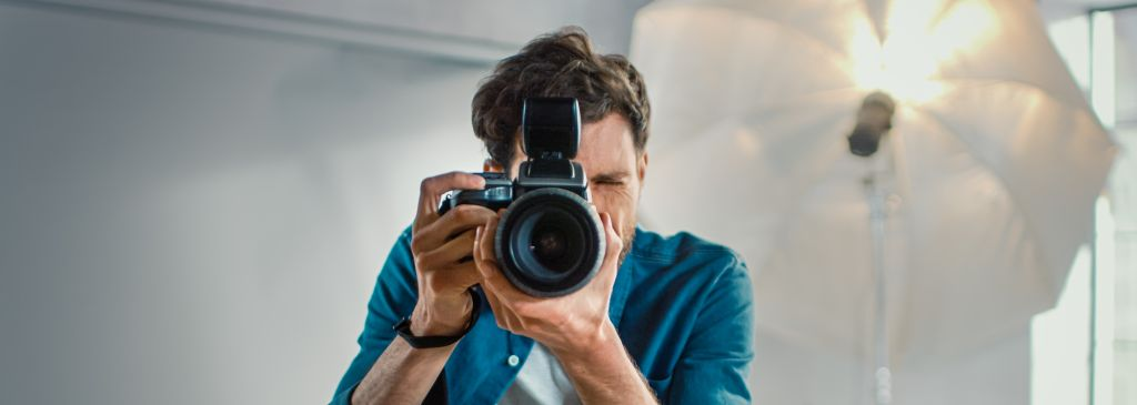 fotograf podczas sesji