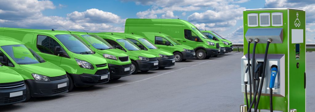 flota samochodów elektrycznych