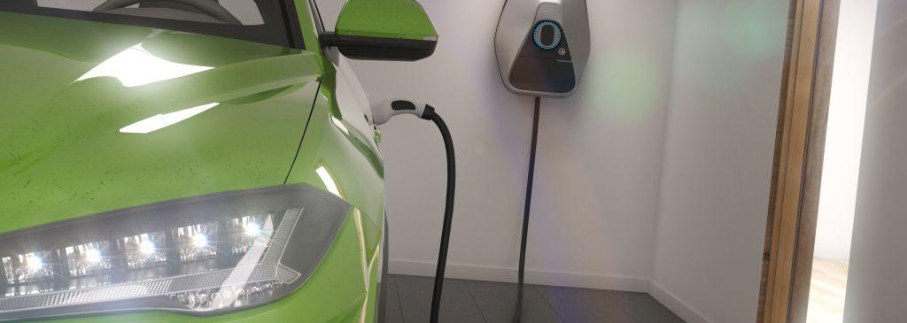 ładowanie samochodu elektrycznego wgarażu