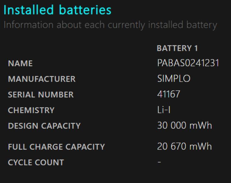 raport ostanie baterii